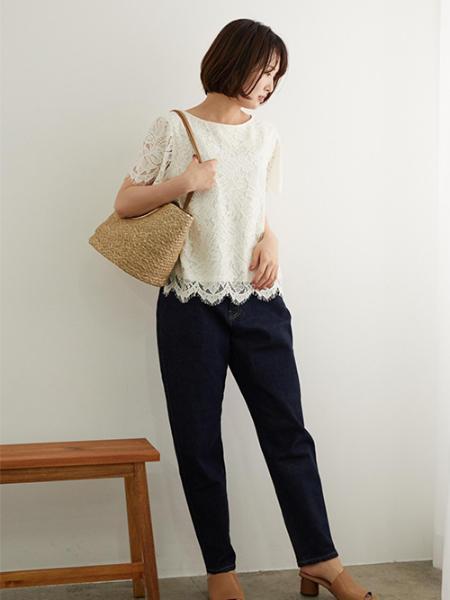 ROPE' PICNICのハイライズマムジーンズを使ったコーディネートを紹介します。|Rakuten Fashion(楽天ファッション/旧楽天ブランドアベニュー)1047518