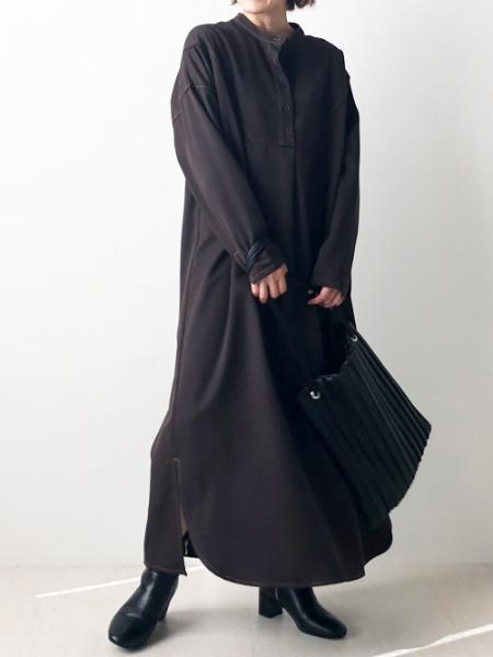 Bou Jeloudの配色ステッチロングシャツワンピースを使ったコーディネートを紹介します。|Rakuten Fashion(楽天ファッション/旧楽天ブランドアベニュー)1047961