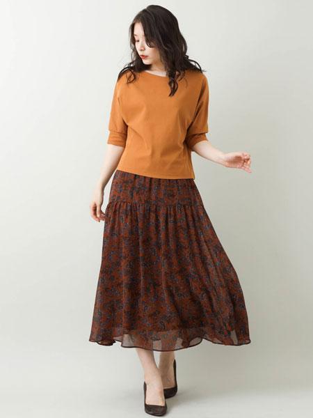 MK MICHEL KLEINの【洗える】ペイズリー柄ティアード切替えスカートを使ったコーディネートを紹介します。|Rakuten Fashion(楽天ファッション/旧楽天ブランドアベニュー)1048104