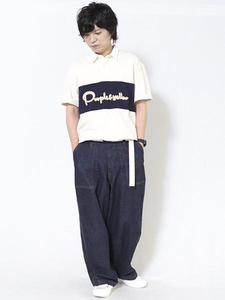 COMME CA ISMのサガラ刺繍半袖ラガーシャツを使ったコーディネートを紹介します。|Rakuten Fashion(楽天ファッション/旧楽天ブランドアベニュー)1048182