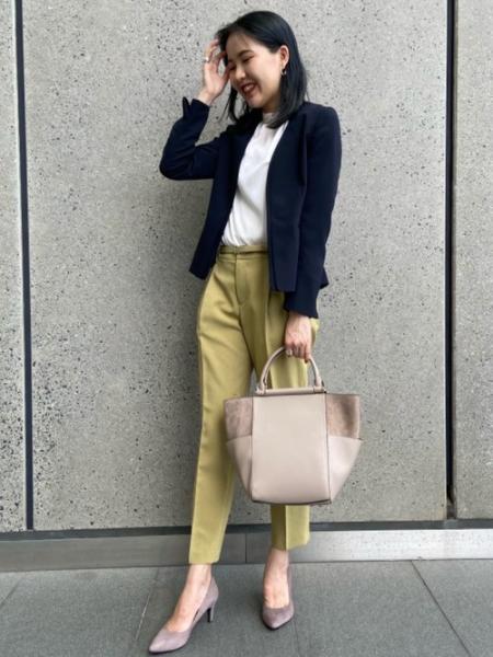 UNITED ARROWS green label relaxingの[洗濯可能]◆D リネコ タック ベルト パンツを使ったコーディネートを紹介します。|Rakuten Fashion(楽天ファッション/旧楽天ブランドアベニュー)1048255