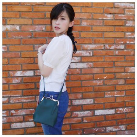 TOKOHANAのがま口ショルダーバッグを使ったコーディネートを紹介します。|Rakuten Fashion(楽天ファッション/旧楽天ブランドアベニュー)1049673