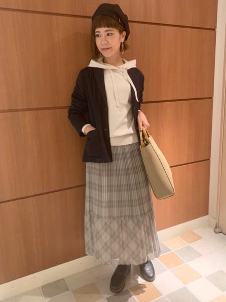 MACKINTOSH PHILOSOPHYのボイルチェックスカートを使ったコーディネートを紹介します。|Rakuten Fashion(楽天ファッション/旧楽天ブランドアベニュー)1049975