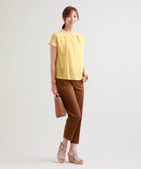 TRANS WORKの【ウォッシャブル】ハイブリーノ2WAYギャバパンツを使ったコーディネートを紹介します。|Rakuten Fashion(楽天ファッション/旧楽天ブランドアベニュー)1050013