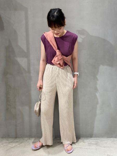 LAKOLEの(W)コットンクリンクルリラックスSHを使ったコーディネートを紹介します。|Rakuten Fashion(楽天ファッション/旧楽天ブランドアベニュー)1050760