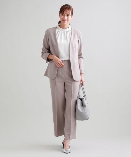 TRANS WORKの【ウォッシャブル】ウーリッシュネクストストレートパンツを使ったコーディネートを紹介します。|Rakuten Fashion(楽天ファッション/旧楽天ブランドアベニュー)1050831
