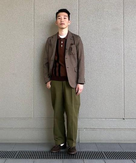 BEAMS MENのBEAMS PLUS / ウエストポイントツイル ワイドトラウザーズを使ったコーディネートを紹介します。|Rakuten Fashion(楽天ファッション/旧楽天ブランドアベニュー)1051079