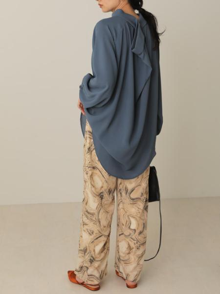 Bou Jeloudのマーブルプリントリラックスパンツを使ったコーディネートを紹介します。|Rakuten Fashion(楽天ファッション/旧楽天ブランドアベニュー)1051393