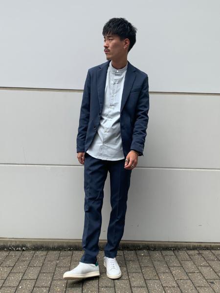 417 EDIFICEの【2点セット】【ウオッシャブル】メランジダブルフェイス セットアップを使ったコーディネートを紹介します。|Rakuten Fashion(楽天ファッション/旧楽天ブランドアベニュー)1051655