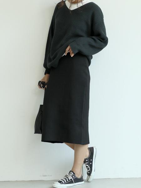 cocaのニットタイトスカートを使ったコーディネートを紹介します。 Rakuten Fashion(楽天ファッション/旧楽天ブランドアベニュー)1051679