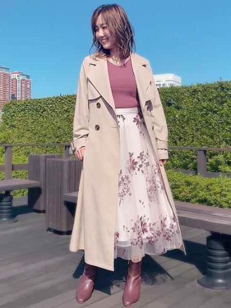 Noelaの花柄スカートコーデセットを使ったコーディネートを紹介します。|Rakuten Fashion(楽天ファッション/旧楽天ブランドアベニュー)1051895