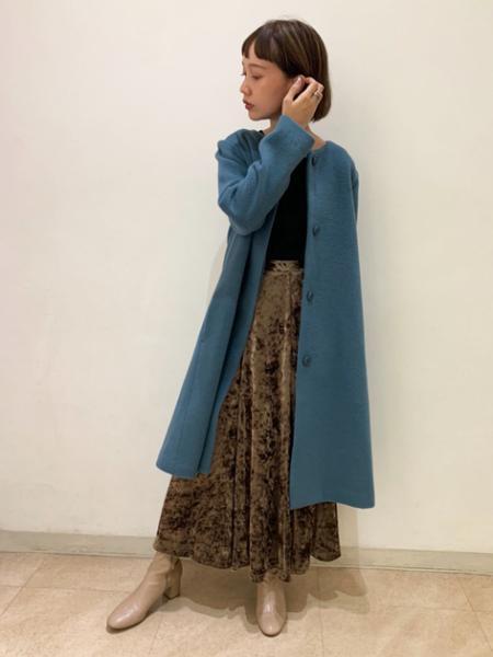 N. Natural Beauty Basic*のクラッシュベロアスカートを使ったコーディネートを紹介します。 Rakuten Fashion(楽天ファッション/旧楽天ブランドアベニュー)1051879