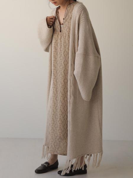 Bou Jeloudの【WEB限定】カフタンパイピングワンピースを使ったコーディネートを紹介します。 Rakuten Fashion(楽天ファッション/旧楽天ブランドアベニュー)1051904