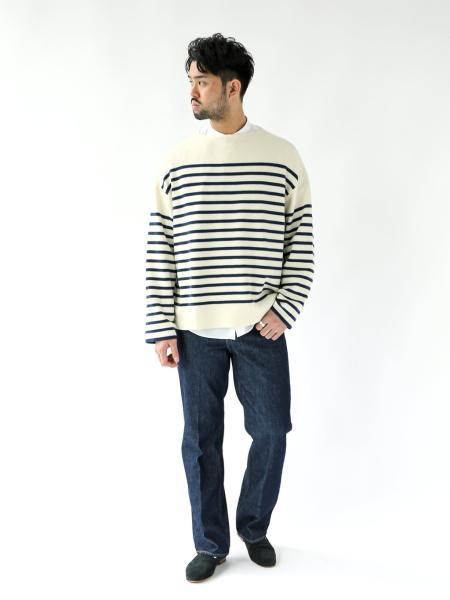 EDIFICEのリラックス バスク ボーダーニットを使ったコーディネートを紹介します。|Rakuten Fashion(楽天ファッション/旧楽天ブランドアベニュー)1052014