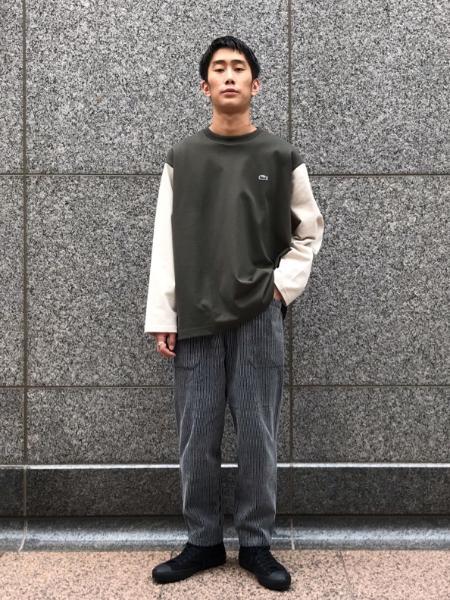 JOURNAL STANDARD relumeのLACOSTE HEAVY PIQUE L/S SMU CRAZYを使ったコーディネートを紹介します。 Rakuten Fashion(楽天ファッション/旧楽天ブランドアベニュー)1052844