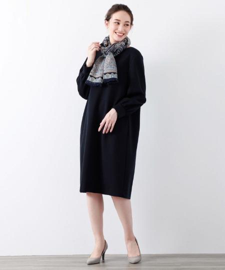 AMACAのマイクロモダールダブルフェイスワンピースを使ったコーディネートを紹介します。|Rakuten Fashion(楽天ファッション/旧楽天ブランドアベニュー)1052892