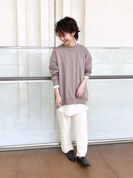 IENAの60裏毛 コクーン長袖プルオーバーを使ったコーディネートを紹介します。|Rakuten Fashion(楽天ファッション/旧楽天ブランドアベニュー)1053965