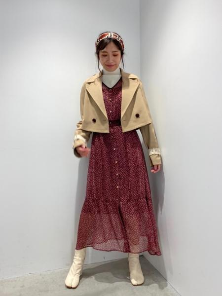 LOVELESSのブルーム ストライプ  ロングドレスを使ったコーディネートを紹介します。 Rakuten Fashion(楽天ファッション/旧楽天ブランドアベニュー)1053971