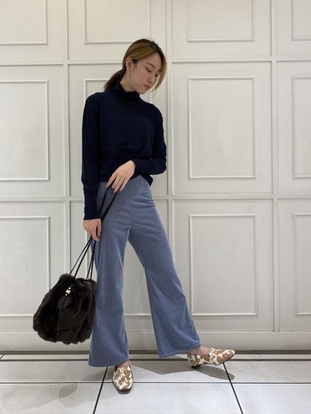 Piche Abahouseのバブーシュ ビットモカ スクエアトゥ ローファーを使ったコーディネートを紹介します。|Rakuten Fashion(楽天ファッション/旧楽天ブランドアベニュー)1054001