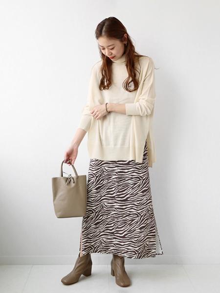 JOURNAL STANDARD relumeのゼブラプリントスカート◆を使ったコーディネートを紹介します。|Rakuten Fashion(楽天ファッション/旧楽天ブランドアベニュー)1054070