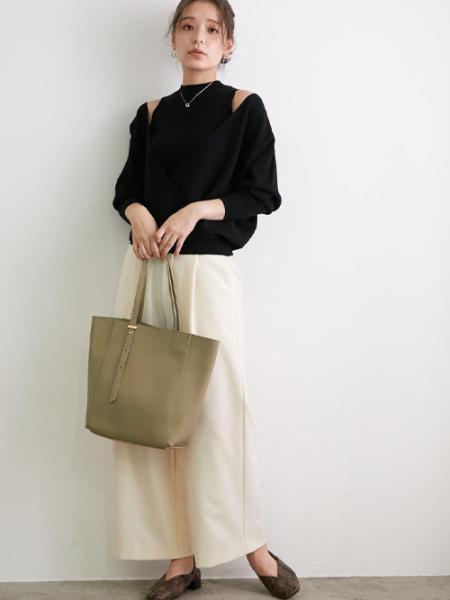 ROPE' PICNICのギボシアジャストハンドルソフトスムースA4トートバッグを使ったコーディネートを紹介します。 Rakuten Fashion(楽天ファッション/旧楽天ブランドアベニュー)1054108