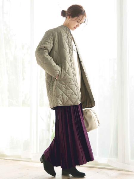 GLOBAL WORKの(W)ハッスイキノウナカワタキルトBZを使ったコーディネートを紹介します。|Rakuten Fashion(楽天ファッション/旧楽天ブランドアベニュー)1054247