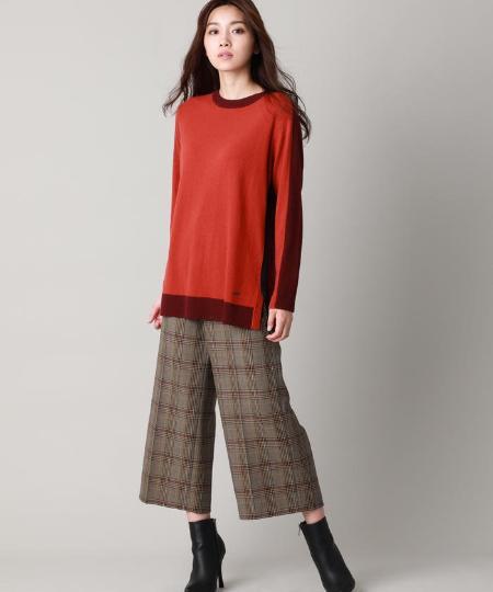 EVEX by KRIZIAの【XSサイズ~】*eclat掲載*リッチウールブロッキングニットを使ったコーディネートを紹介します。|Rakuten Fashion(楽天ファッション/旧楽天ブランドアベニュー)1055010