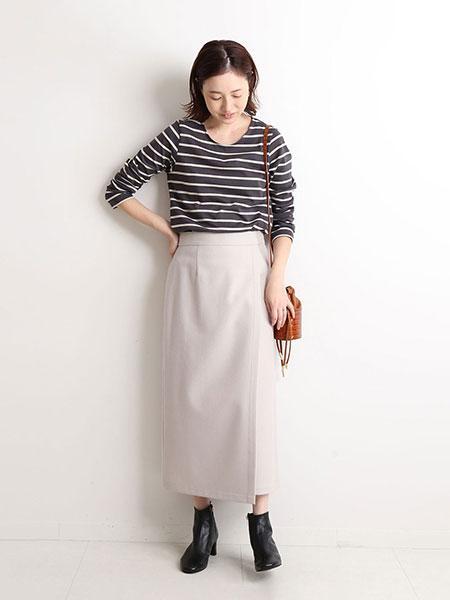 SLOBE IENAのウォッシャブルフラノラップスカート◆を使ったコーディネートを紹介します。|Rakuten Fashion(楽天ファッション/旧楽天ブランドアベニュー)1055351