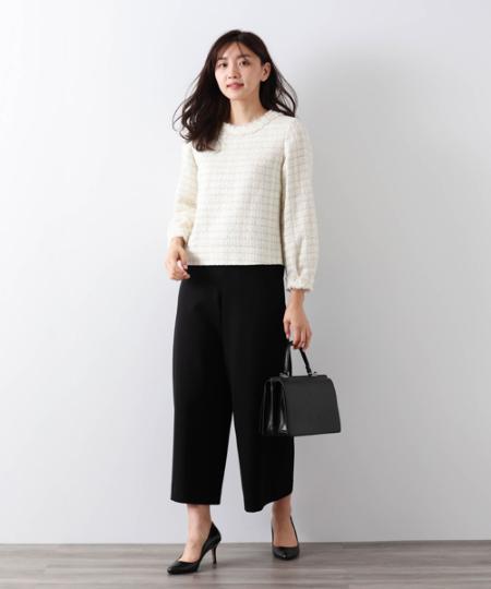 AMACAのブラッシュポンチワイドパンツを使ったコーディネートを紹介します。|Rakuten Fashion(楽天ファッション/旧楽天ブランドアベニュー)1055396