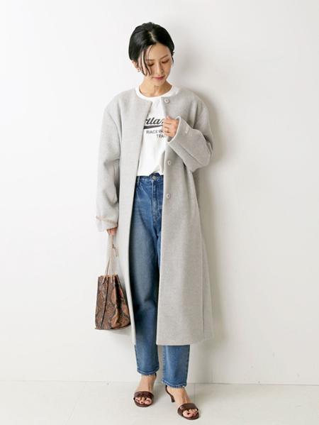 JOURNAL STANDARD relumeのLANA WOOL 140クルーネックコート◆を使ったコーディネートを紹介します。|Rakuten Fashion(楽天ファッション/旧楽天ブランドアベニュー)1055704
