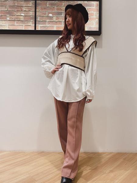 INGNIの7G配色ニットビスチェ+BL/SETを使ったコーディネートを紹介します。|Rakuten Fashion(楽天ファッション/旧楽天ブランドアベニュー)1055756