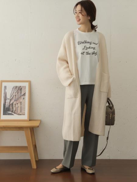 URBAN RESEARCH DOORSのラムウールニットロングカーディガンを使ったコーディネートを紹介します。|Rakuten Fashion(楽天ファッション/旧楽天ブランドアベニュー)1056126