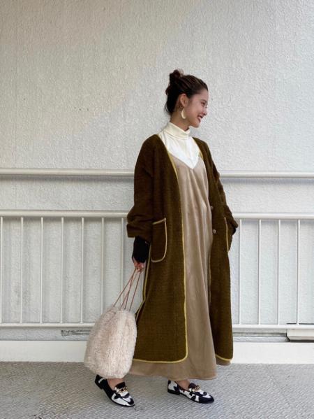 ROSE BUDのベロアワンピースインナーセットを使ったコーディネートを紹介します。 Rakuten Fashion(楽天ファッション/旧楽天ブランドアベニュー)1056172