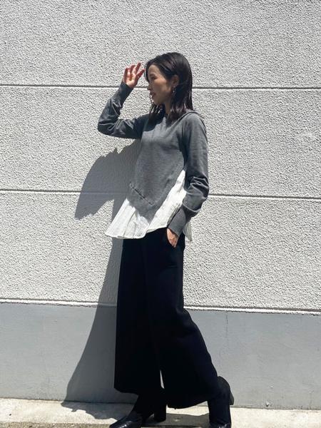 CAST:の【My Perfect Series】極上セミワイド ニットパンツを使ったコーディネートを紹介します。|Rakuten Fashion(楽天ファッション/旧楽天ブランドアベニュー)1056850