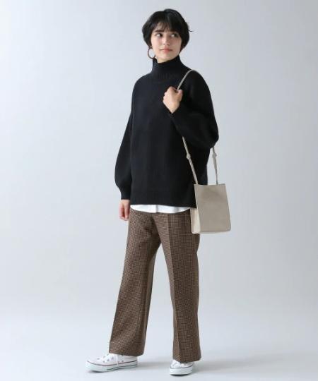 RAGEBLUEのソデパフハイネックニットを使ったコーディネートを紹介します。 Rakuten Fashion(楽天ファッション/旧楽天ブランドアベニュー)1057789