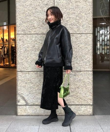 BEAMS WOMENのRay BEAMS / クラッシュ ベロア 2way ワンピースを使ったコーディネートを紹介します。|Rakuten Fashion(楽天ファッション/旧楽天ブランドアベニュー)1058211
