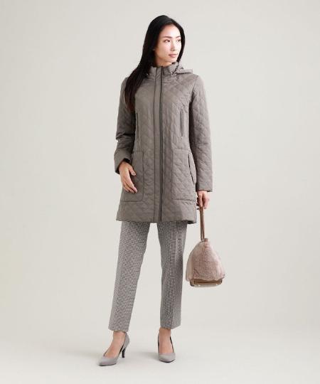 TRANS WORKの【吸湿発熱】【抗菌】【消臭】キルティングタフタスタンドカラーコートを使ったコーディネートを紹介します。 Rakuten Fashion(楽天ファッション/旧楽天ブランドアベニュー)1058336