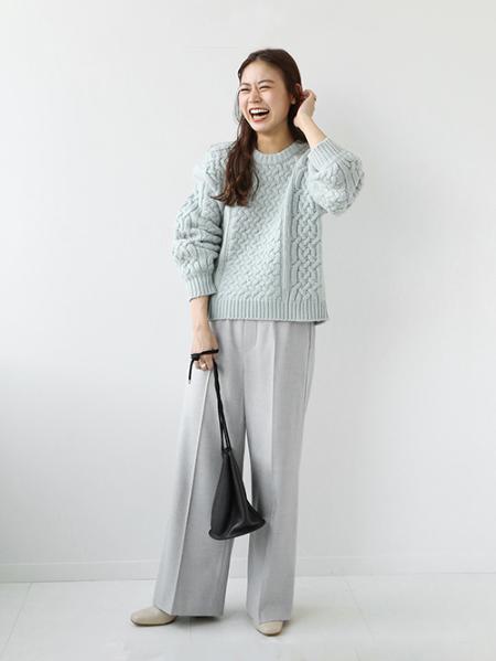 JOURNAL STANDARD relumeのラムウールケーブルタックプルオーバーを使ったコーディネートを紹介します。 Rakuten Fashion(楽天ファッション/旧楽天ブランドアベニュー)1058588