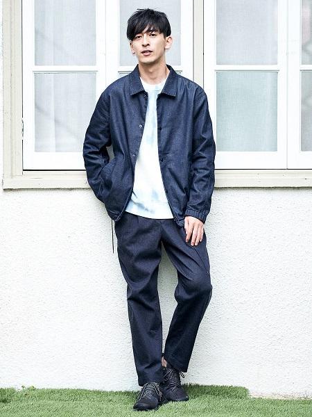 B:MING LIFE STORE by BEAMSのB:MING by BEAMS / デニム ワイド イージーパンツ(セットアップ対応)を使ったコーディネートを紹介します。 Rakuten Fashion(楽天ファッション/旧楽天ブランドアベニュー)1059280
