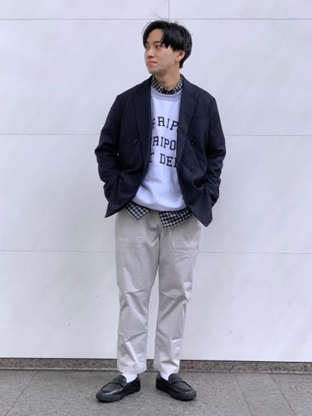 417 EDIFICEの【ユニセックス】BIG SHIRTS レタードスウェットを使ったコーディネートを紹介します。|Rakuten Fashion(楽天ファッション/旧楽天ブランドアベニュー)1059375