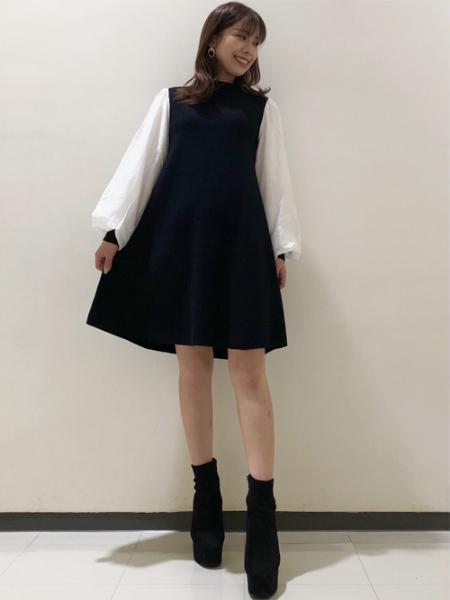 INGNIの12G袖異素材OPを使ったコーディネートを紹介します。|Rakuten Fashion(楽天ファッション/旧楽天ブランドアベニュー)1059727