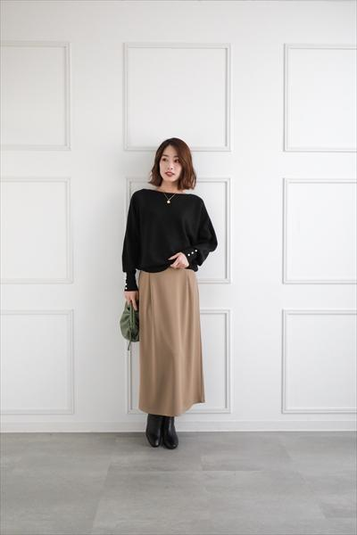 clearのWEB限定ポンチロングスカートを使ったコーディネートを紹介します。|Rakuten Fashion(楽天ファッション/旧楽天ブランドアベニュー)1059868
