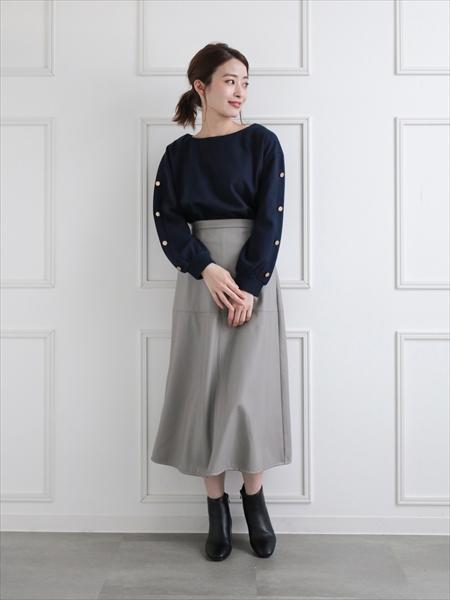 clearのフェイクレザーAラインスカートを使ったコーディネートを紹介します。 Rakuten Fashion(楽天ファッション/旧楽天ブランドアベニュー)1059908