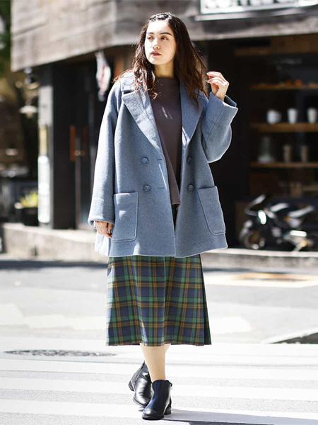 eur3の【大きいサイズ/洗える】裾リブカラースウェットを使ったコーディネートを紹介します。|Rakuten Fashion(楽天ファッション/旧楽天ブランドアベニュー)1060580