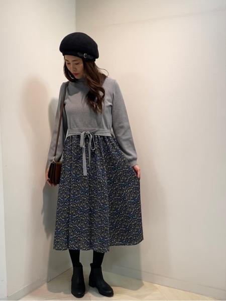 MACKINTOSH PHILOSOPHYのSnowblue Gardenニットコンビワンピースを使ったコーディネートを紹介します。|Rakuten Fashion(楽天ファッション/旧楽天ブランドアベニュー)1060565