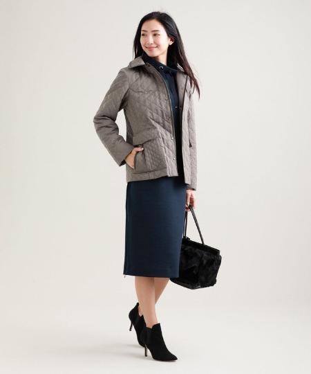 TRANS WORKの【吸湿発熱】【抗菌】【消臭】キルティングタフタショートコートを使ったコーディネートを紹介します。|Rakuten Fashion(楽天ファッション/旧楽天ブランドアベニュー)1060594