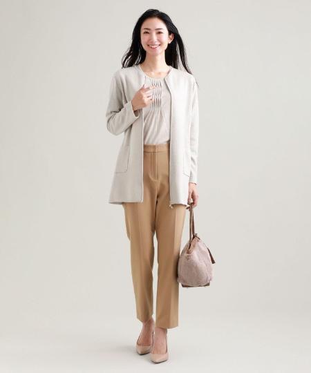 TRANS WORKの【ウォッシャブル】エクストラファインウールニットアウターを使ったコーディネートを紹介します。 Rakuten Fashion(楽天ファッション/旧楽天ブランドアベニュー)1060641