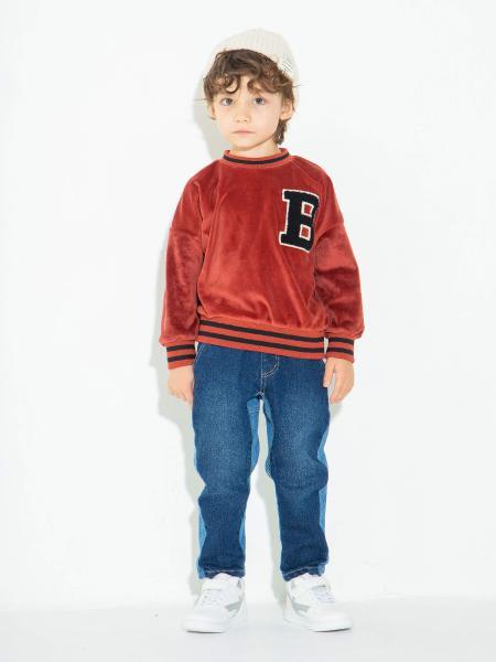 BRANSHESのカラー切替えデニムパンツを使ったコーディネートを紹介します。|Rakuten Fashion(楽天ファッション/旧楽天ブランドアベニュー)1060962