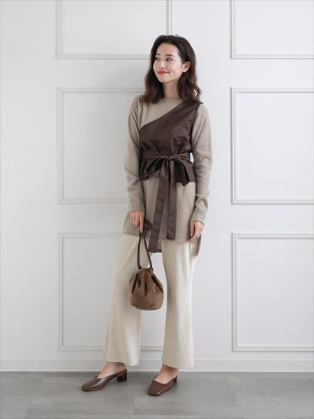 clearのベロアリブパンツを使ったコーディネートを紹介します。|Rakuten Fashion(楽天ファッション/旧楽天ブランドアベニュー)1061277