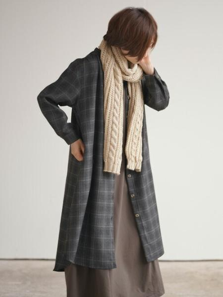 rpsの(W)TRチェックバンドカラーシャツワンピースを使ったコーディネートを紹介します。 Rakuten Fashion(楽天ファッション/旧楽天ブランドアベニュー)1061441